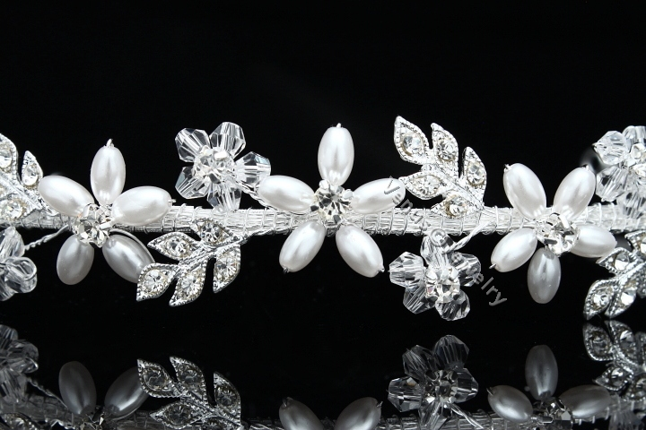 Handmade Rhinestone Crystal Pearl Flower Star Bridal Wedding Headband