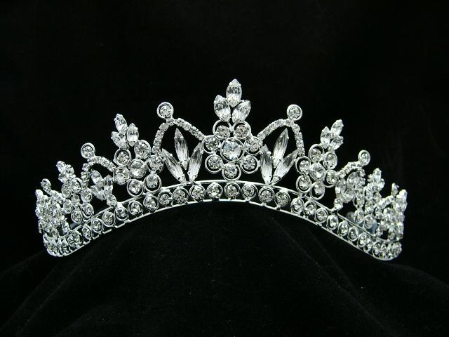 Bridal Pageant Rhinestone Crystal Prom Wedding Silver